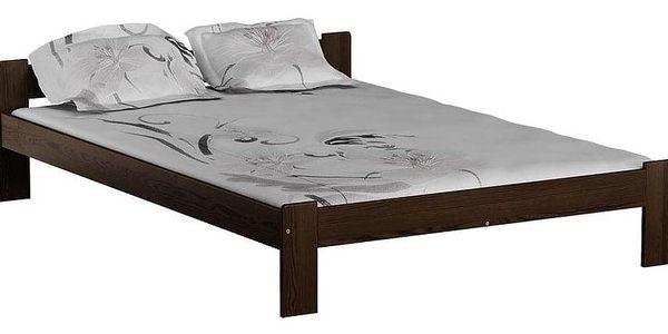 Dřevěná postel Celinka 160x200 + rošt ZDARMA borovice4