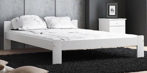 Dřevěná postel Celinka 160x200 + rošt ZDARMA borovice5
