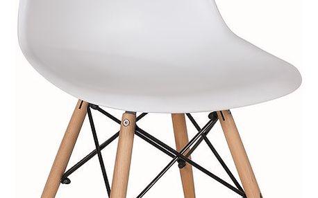Jídelní židle KELV, bílá