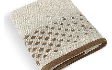Bellatex Froté ručník Béžová řada Béžová mozaika, 50 x 100 cm , 50 x 100 cm