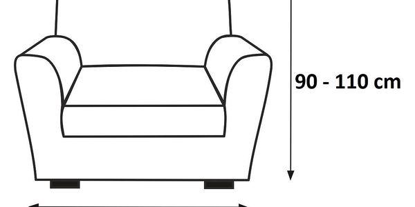 Forbyt Multielastický potah na křeslo Petra béžová, 70 - 100 cm2