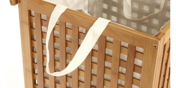 Koš na prádlo, bambusový koš, koš na oděvy, kontejner, obdélníkový koš, světle hnědá barva, BAMBOU2