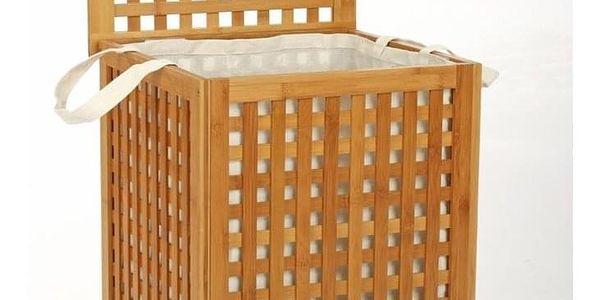 Koš na prádlo, bambusový koš, koš na oděvy, kontejner, obdélníkový koš, světle hnědá barva, BAMBOU4