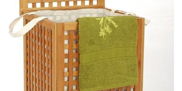 Koš na prádlo, bambusový koš, koš na oděvy, kontejner, obdélníkový koš, světle hnědá barva, BAMBOU5