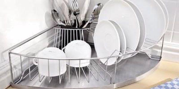 Rohový koš na nádobí, odkapávač, sušák, WENKO2
