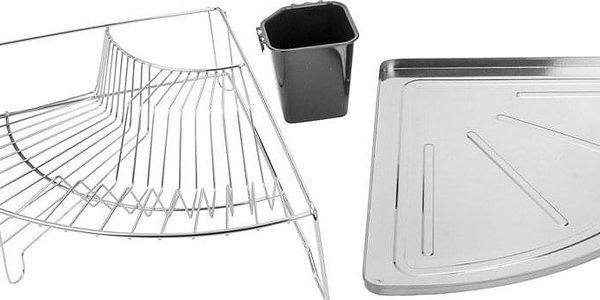 Rohový koš na nádobí, odkapávač, sušák, WENKO5