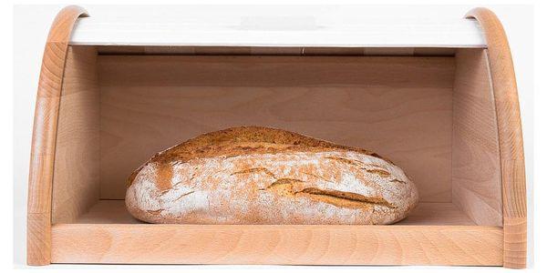 Dřevěný chlebník, box na chleba, 39x25x21cm, ZELLER4
