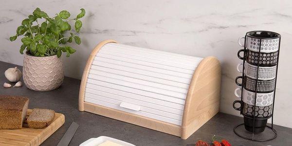 Dřevěný chlebník, box na chleba, 39x25x21cm, ZELLER5
