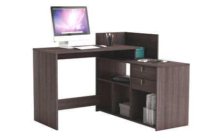 CORRIS, univerzální rohový psací stůl, dub vulcano DOPRODEJ