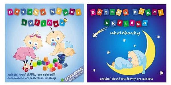 Dětská hrací skříňka: CD nebo 4GB flash disk s hudbou pro kojence a malé děti2
