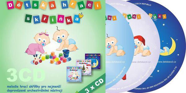 Dětská hrací skříňka: CD nebo 4GB flash disk s hudbou pro kojence a malé děti3