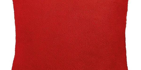 Bellatex polštářek Korall micro, červená, 38 x 38 cm