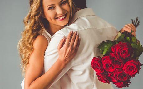Kytice extra dlouhých růží i valentýnské květy