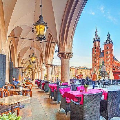 Historický Krakov v 3* hotelu se vstupem do bazénu a sauny + snídaně a balíček slev