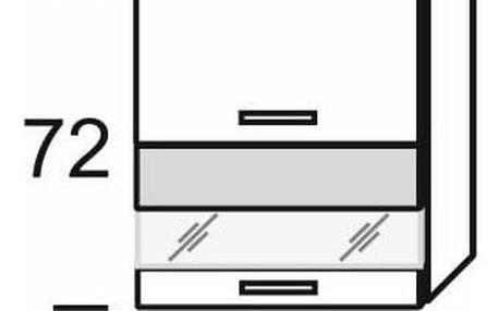 KAMMDUO, horní skříňka DUO WO2W_6/72,zebrano/hruška