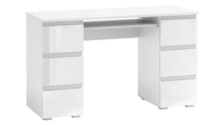 Počítačový stůl KLIK 6 bílá lesklá