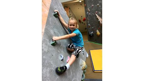 Individuální lekce lezení na stěně pro děti