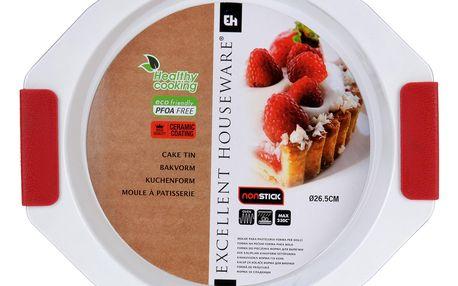 EH Excellent Houseware Kruhová pečící forma - keramický povrch, silikonové úchyty