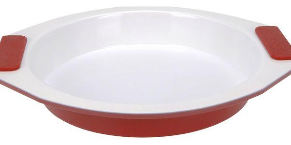 EH Excellent Houseware Kruhová pečící forma - keramický povrch, silikonové úchyty2