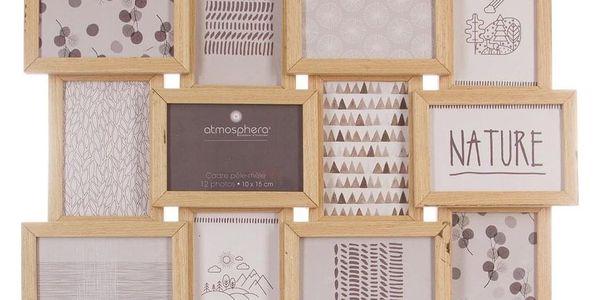 Emako Obdélníkový rámeček pro 12 fotek, fotorámeček, rámeček na fotky - mini galerie na fotky, 46 x 60 x 3 cm3