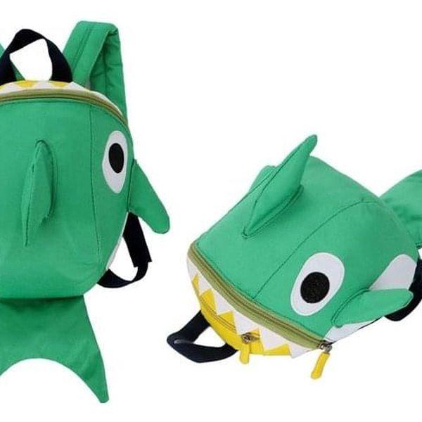 Dětský batůžek ve tvaru žraloka nebo dinosaura v několika barvách2