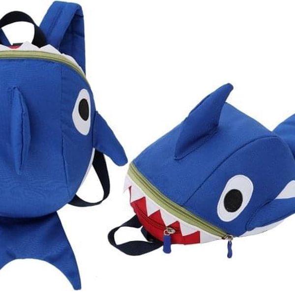 Dětský batůžek ve tvaru žraloka nebo dinosaura v několika barvách3