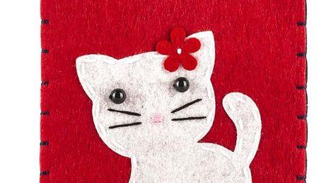 Ochranné pouzdro na mobilní telefony Kočka filcové na zip