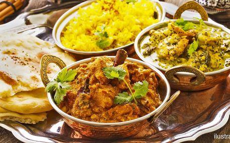 Nepálské menu pro dva: vegetariánské nebo kuřecí
