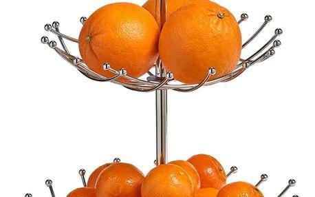 Podnos pro ovoce, 2 patra - chromovaná ocel, ZELLER