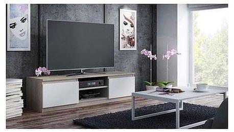 TV stolek RTV 120 sonoma/bílá
