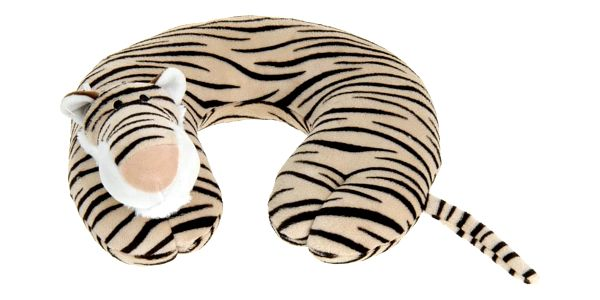 Emako Měkký cestovní polštář pod hlavu pro dítě - půlměsíc s motivem zvířátka
