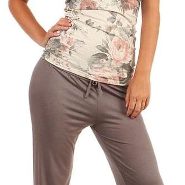 Dámské volné kalhoty lososová3