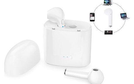 Bluetooth sluchátka i7S s dobíjecím boxem