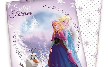 Herding Dětské bavlněné povlečení do postýlky Frozen Sister Forever, 100 x 135 cm, 40 x 60 cm