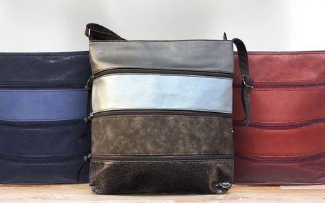 Pruhované crossbody kabelky v mnoha barvách