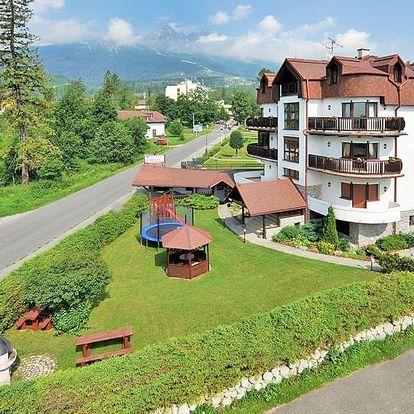 Vysoké Tatry v plně vybaveném apartmánu se snídaní a 1 dítětem do 11,9 let zdarma + slevy