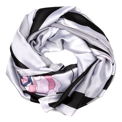 Delfin Hedvábný šátek Elegance de Pure - Rose