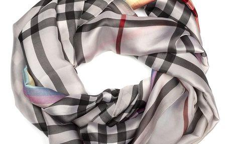 Delfin Hedvábný šátek Elegance de Pure kostky