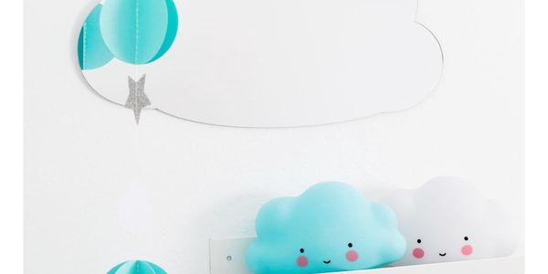A Little Lovely Company Zrcadlo ve tvaru obláčku Cloud, čirá barva, plast2