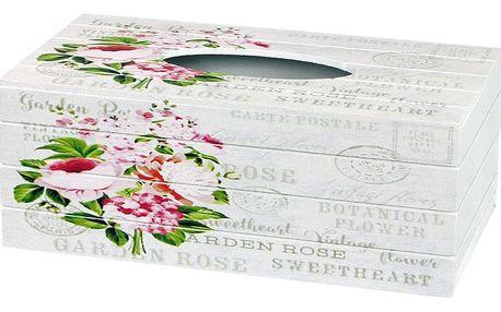 Box na kapesníky Garden rose, 24,5 cm