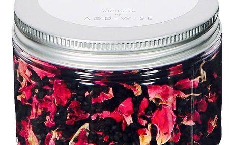 ADD:WISE Havajská černá lávová sůl s lístky růže 135g, černá barva, plast
