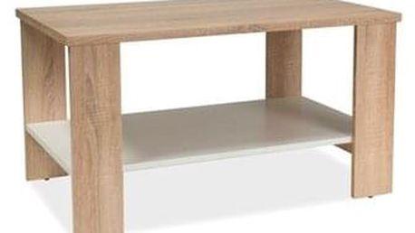 Konferenční stolek LARA dub sonoma/bílá 90x55x50 cm