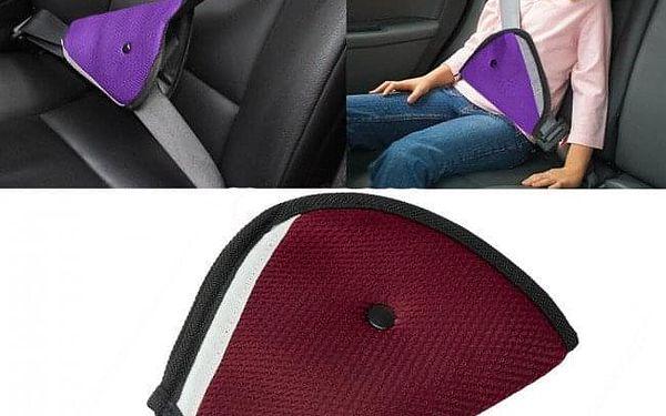 Měkčený návlek na bezpečnostní pás pro děti: šedý, modrý, bordó i fialový2