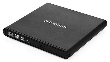 Externí DVD vypalovačka Verbatim Slimline USB 2.0 černá (98938)