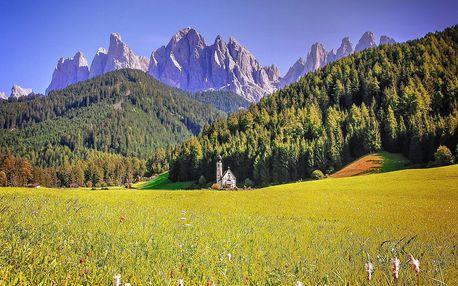 Pohádkové Dolomity - zámky, malebné hory, báječné lázně, 6 dní s dopravou a ubytováním
