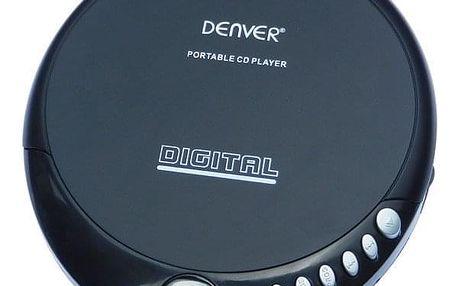 Discman Denver DM-24 (ddm24) černý Nabíječka Philips SCB 1290P pro AA,AAA v hodnotě 147 Kč