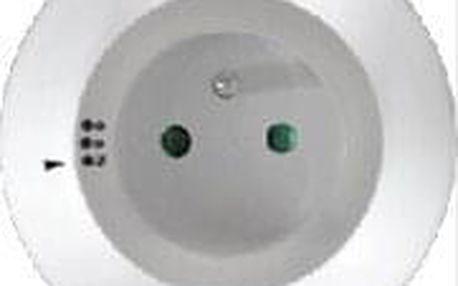 Noční světlo Solight WL93 s průběžnou zásuvkou, volitelné 3 barvy světla, automatický spínací senzor ve tmě, 230V (WL93)