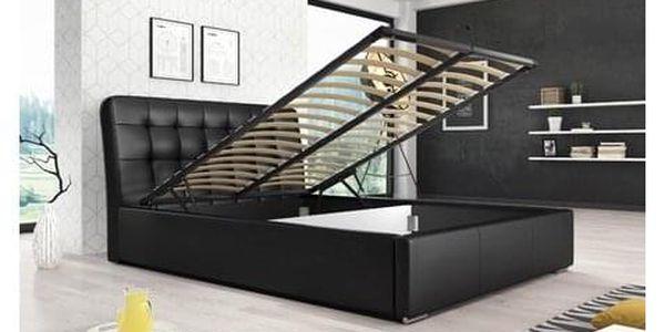 Čalouněná postel MALAGA černá rozměr 180x200 cm2