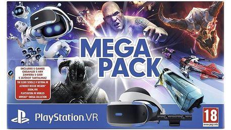 Brýle pro virtuální realitu Sony PlayStation VR + kamera + 5 her (VR Worlds, Skyrim, Doom, Astrobot, Wipeout) (PS719786313)