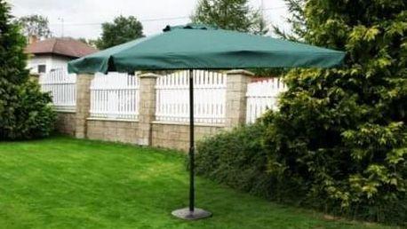 Tradgard 3874 Čtvercový slunečník - zelený 270 x 270 cm